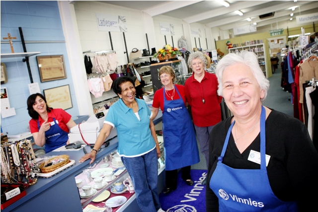 Vinnies Shop volunteers