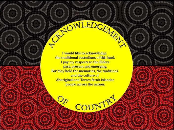 Acknowledgement of Country by Chad Briggs